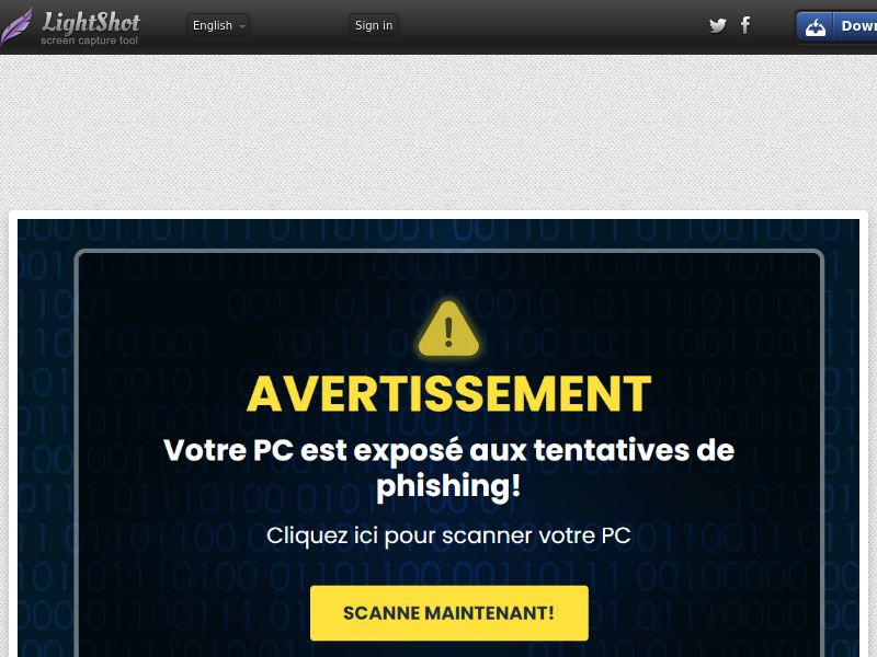ProtectNow PC Privacy - Blue Warning (CC Trial) - Belgium (BEfr)