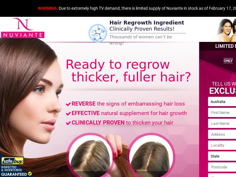 Nuviante Womens Hair v2 (CPS) - AU, NZ, ZA, IE, IN, SG, MY, PH