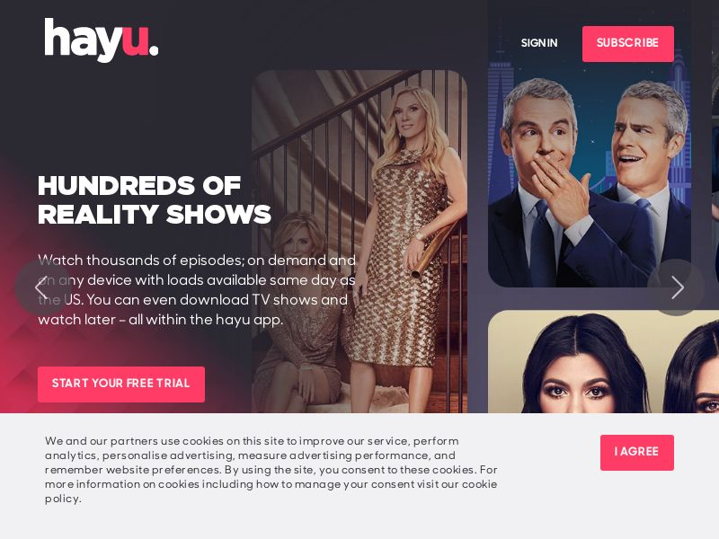 Hayu - Reality TV on Demand! - INCENT - CA