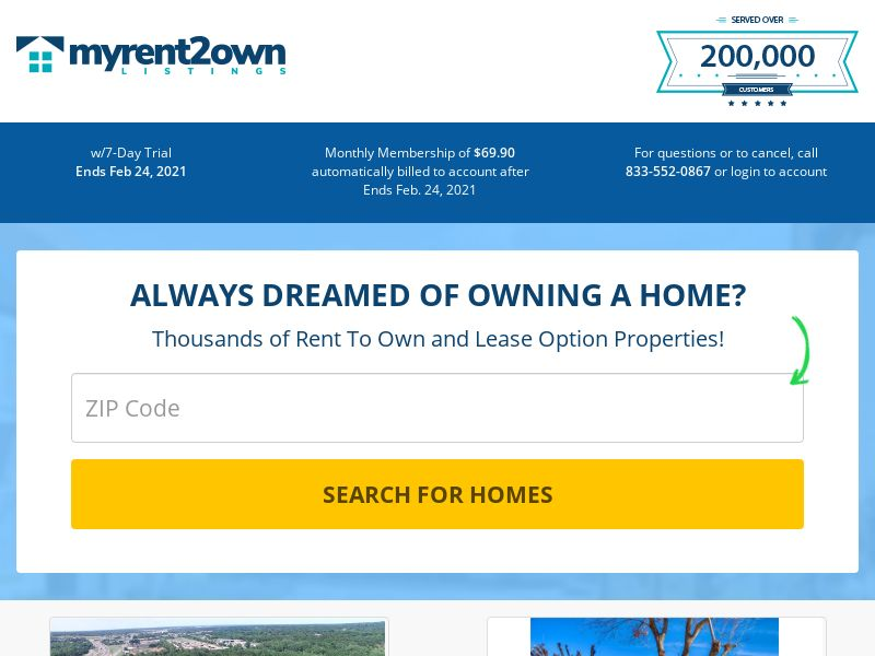 My Rent to Own Listings (Exclusive)