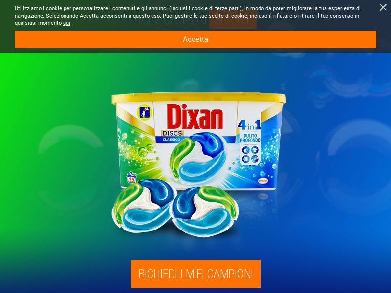 Dixan Free Samples [IT] (Email,Native,Social,Banner,Push) - CPL
