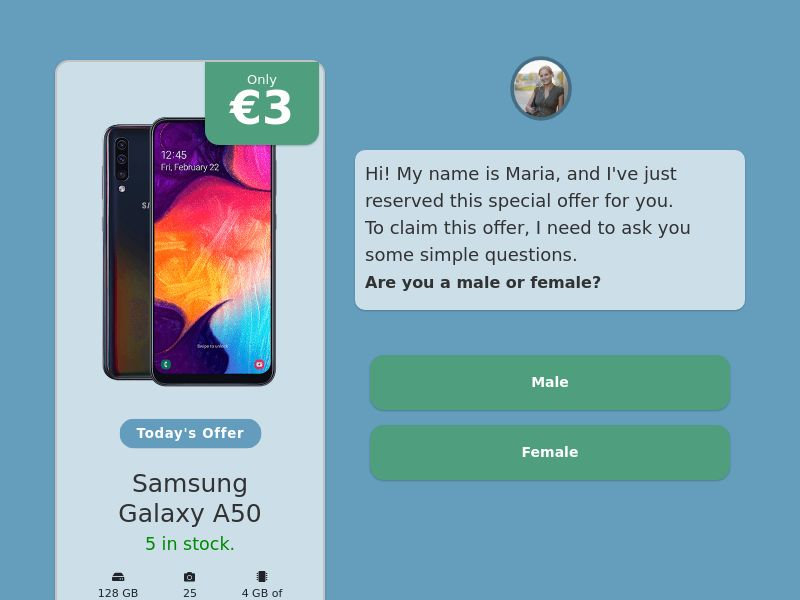 Step-by-step FUNNEL: Samsung Galaxy A50 - IE