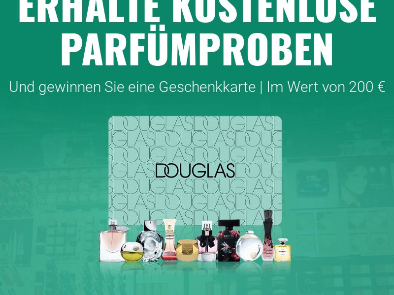 Douglas Perfume Samples [DE] (Email,Native,Social,Banner,Push) - CPL