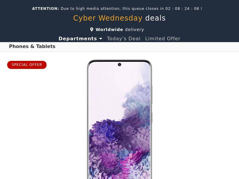 Samsung Galaxy S20 (Amazon) - NZ