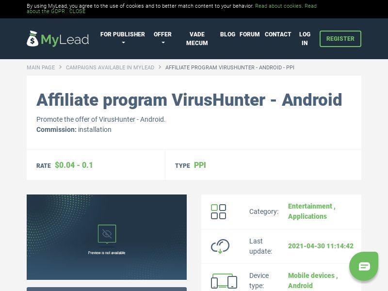 VirusHunter - Android (MultiGeo), [PPI]