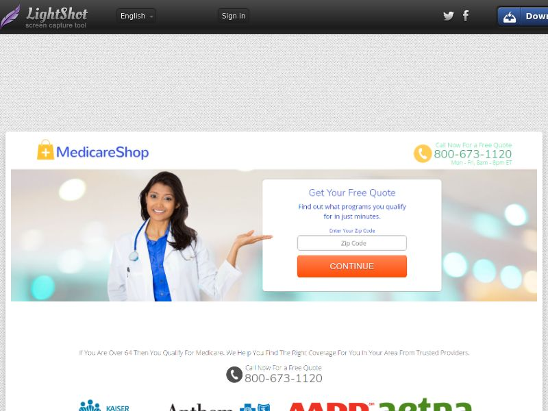 Medicare Shop Now (US) (CPL) (Personal Approval)