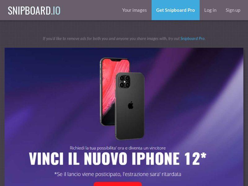38505 - IT - LeadMarket - iPhone 12 (Without prelander) - SOI