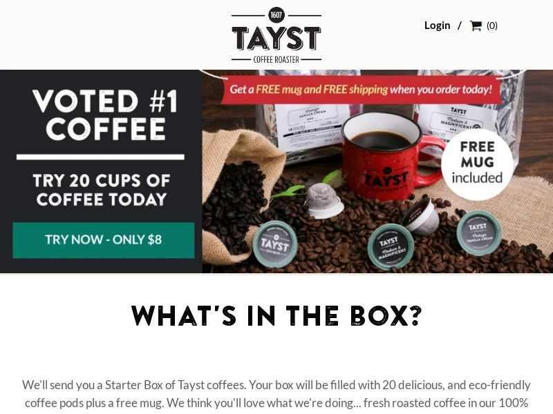 Tayst Coffee Roaster (CPS) - Subscription Boxes/eCommerce - US