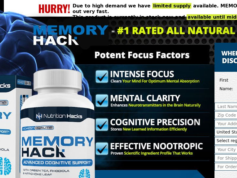 Memory Hack [INTL] (Banner,Native,Search,SEO,Social,Push) - CPA {No Email,No Brand Bidding}