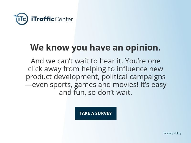 iTraffic Center Daily Survey - INCENT - US