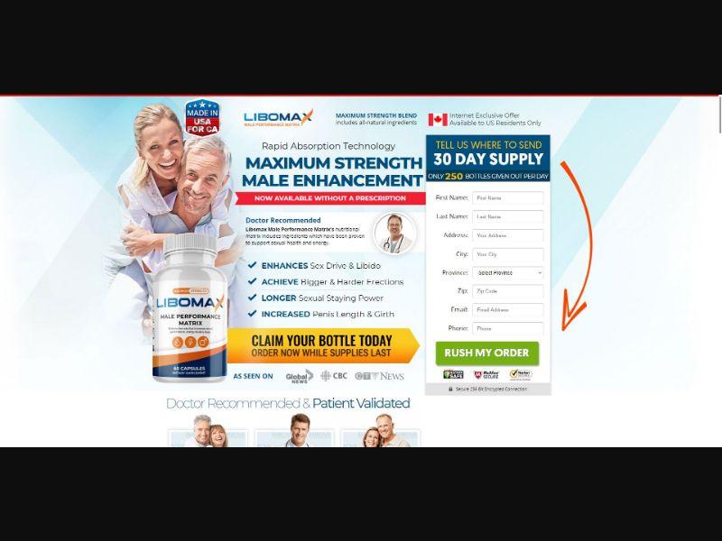 LiboMax - Male Enhancement - SS - NO SEO - [CA]