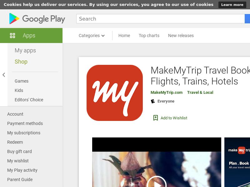 Make my trip Android IN CPA