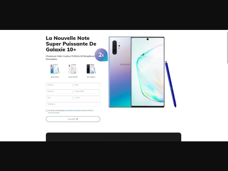 Samsung Galaxy Note 10+ - Sweepstakes & Surveys - Trial - [FR]