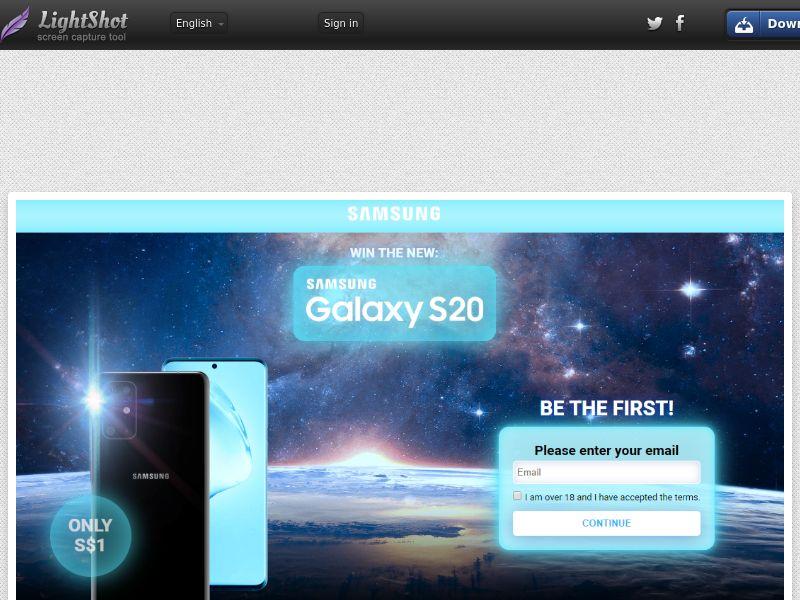 GetRealDeal Samsung Galaxy S20 Dark (Sweepstake) (CC Trial) - Singapore [SG]