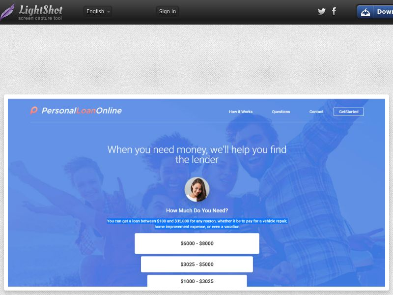 PersonalLoanOnline.Net (US) (CPL) (RevShare) (Personal Approval)