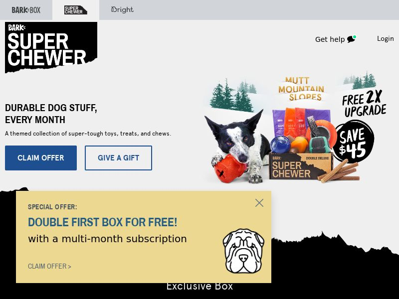 BarkBox Super Chewer - US - Mobile and Desktop Traffic - CPA - Converts on Subscription