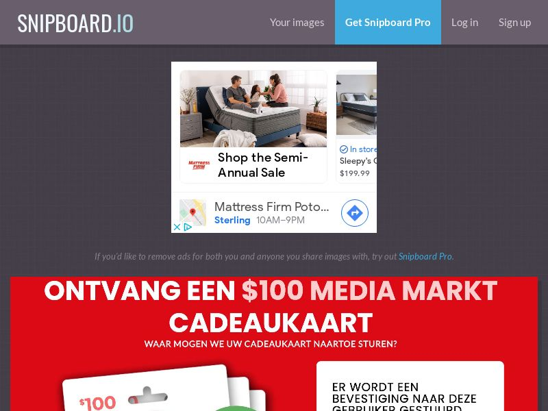 CoreSweeps - Media Markt Giftcard 100 USD NO - CC Submit