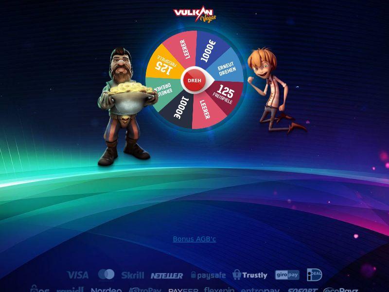 Vulkan Vegas - Wheel - Fb (google) +apps - DE
