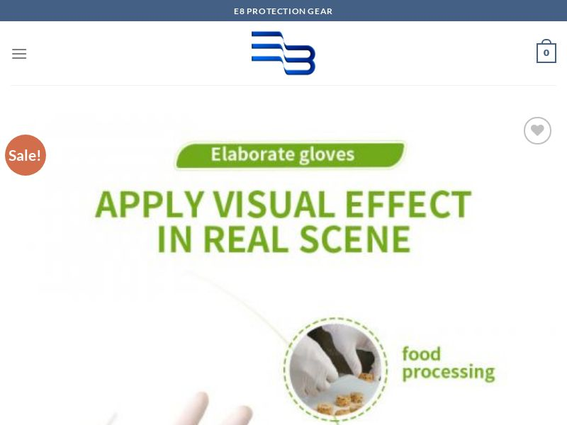 E8 Protective Disposable Latex Multipurpose Gloves (SS)