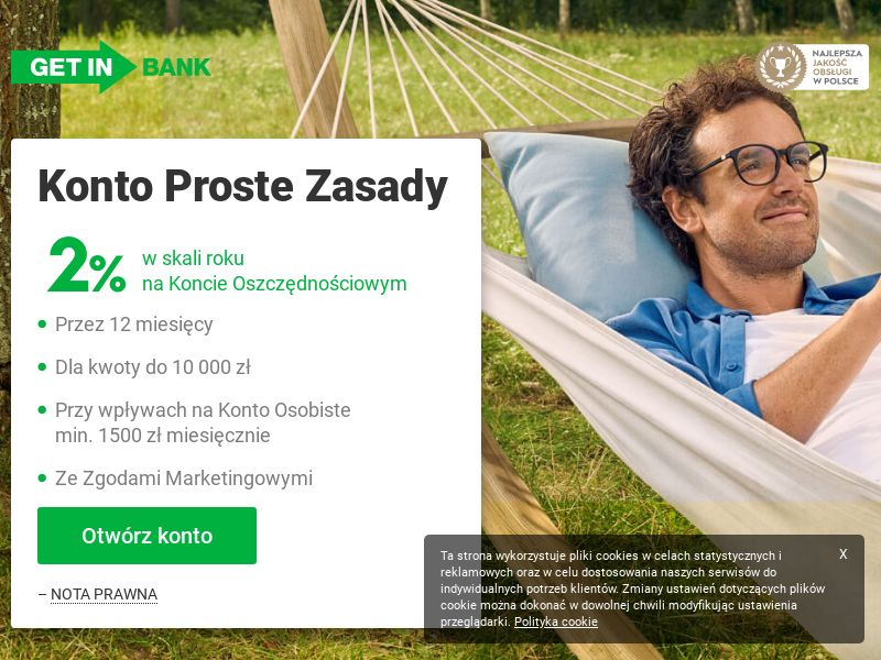 Getin Bank - Konto Proste Zasady (PL), [CPA | CPS], Business, Account, Personal account, Open bank account, bank, finance