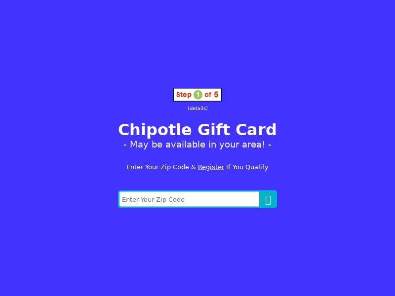 My Area Deals: Chipotle Gift Card