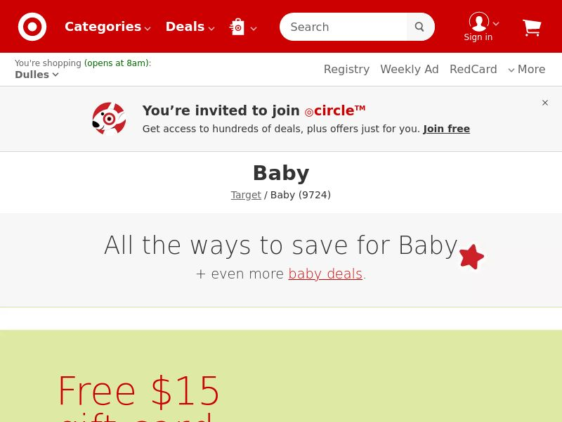 Target.com - Baby & Furniture - Rev-Share   US