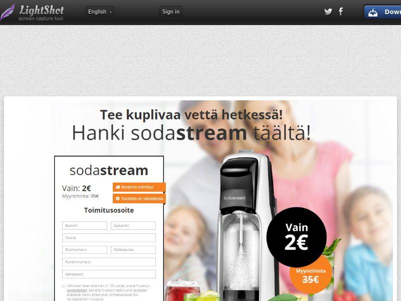 SodaStream (Sweepstake) (CC Trial) - Finland [FI]