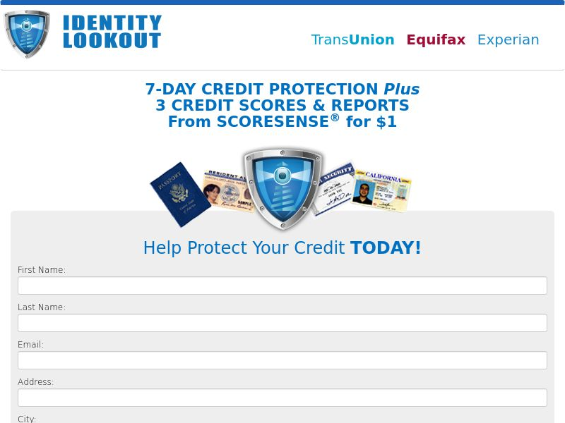 Credit Protect - Identity LookOut - 3B - Trial (US)