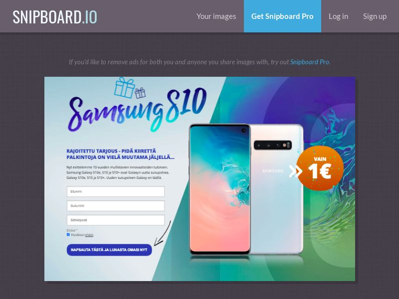 SteadyBusiness - Samsung Galaxy S10 LP15 FI - CC Submit