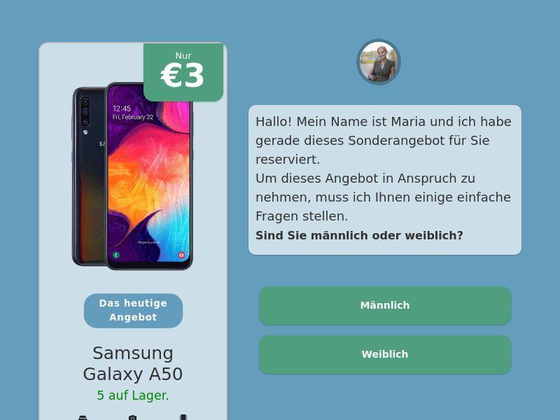 Step-by-step FUNNEL: Samsung Galaxy A50 - DE