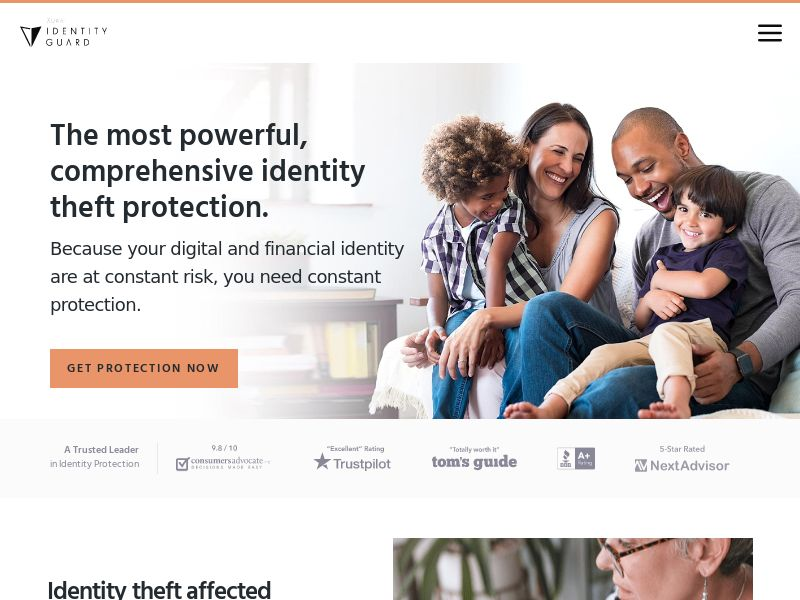 Identity Guard - ID Theft Protection - Free Trial $1- Iframe - CPA - [US]