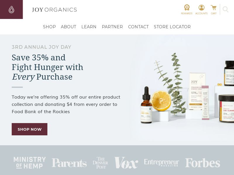 Joy Organics - CBD Oil Products - Mobile and Desktop Traffic - US - CPS - Converts on sale