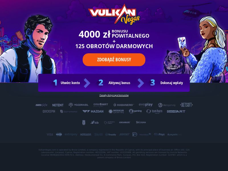 Vulkan Vegas - Welcome Page - FB + Apps - PL