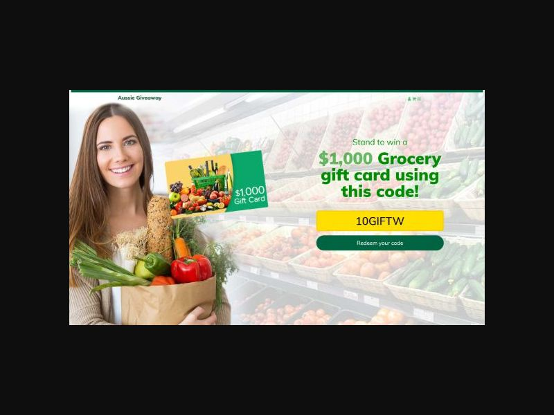 Win $1000 Grocery Giftcard - (AU)