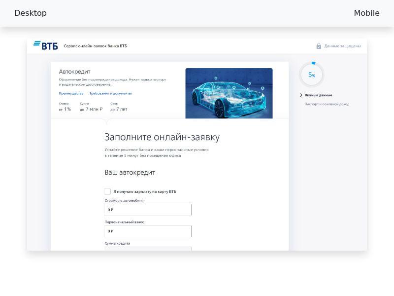 ВТБ Автокредит - CPA [RU]