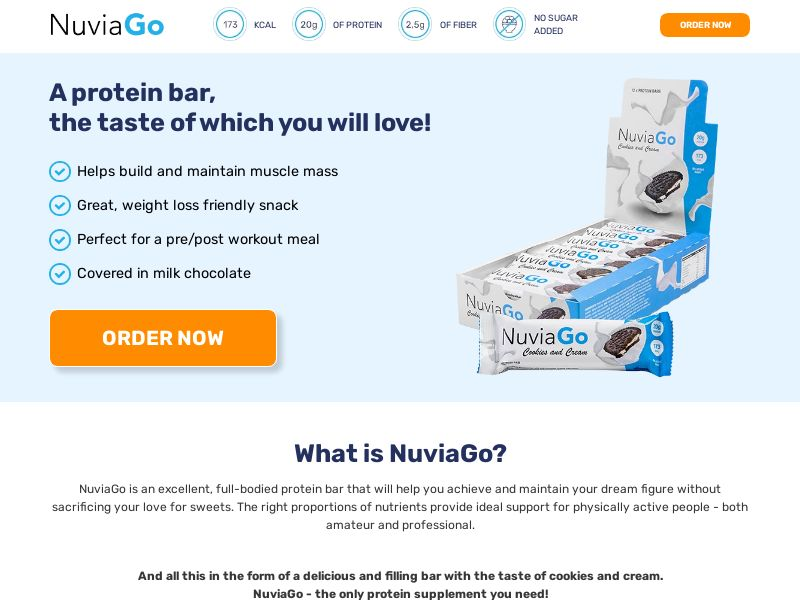NuviaGo - Protein Bars (PPS) - Health/Fitness - UK