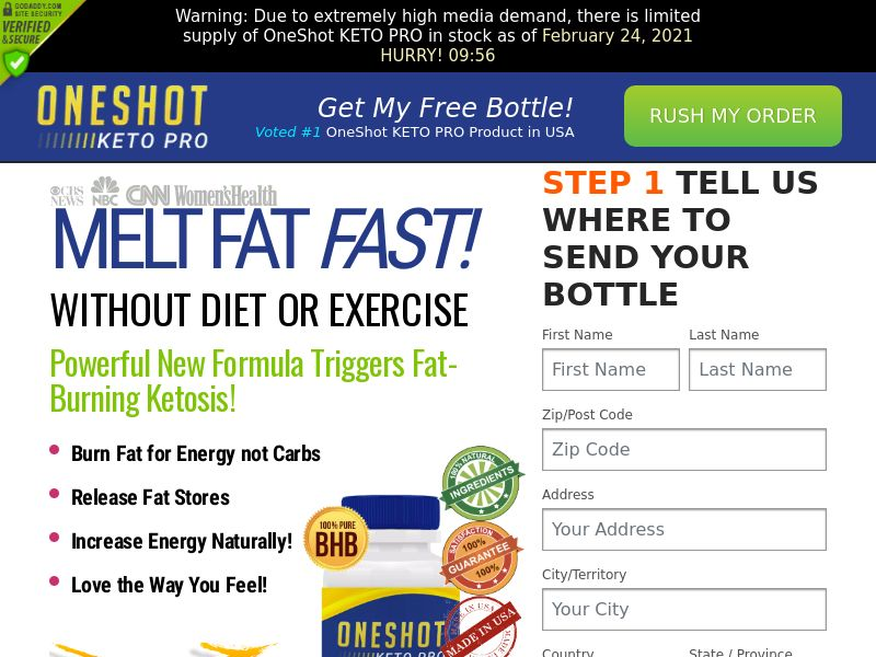 One Shot Keto Pro (CPA) (US) (SS)