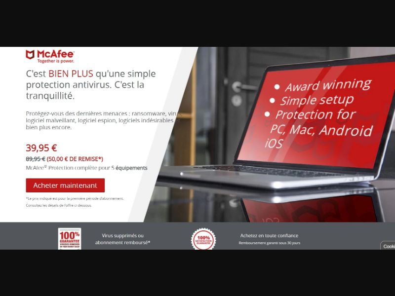 McAfee Total Protection (FR) (CPS) (Personal Approval)