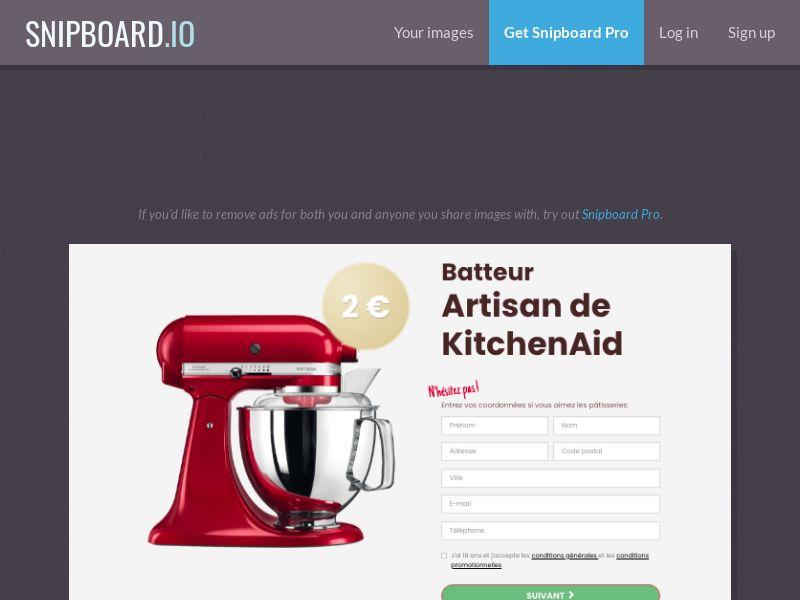 BigEntry - KitchenAid v1 FR - CC Submit