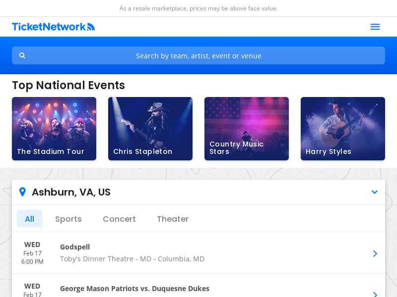 Ticketnetwork WW CPS