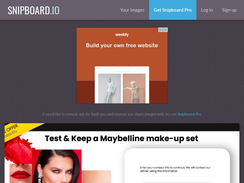 YouSweeps - Maybelline Samples US - SOI