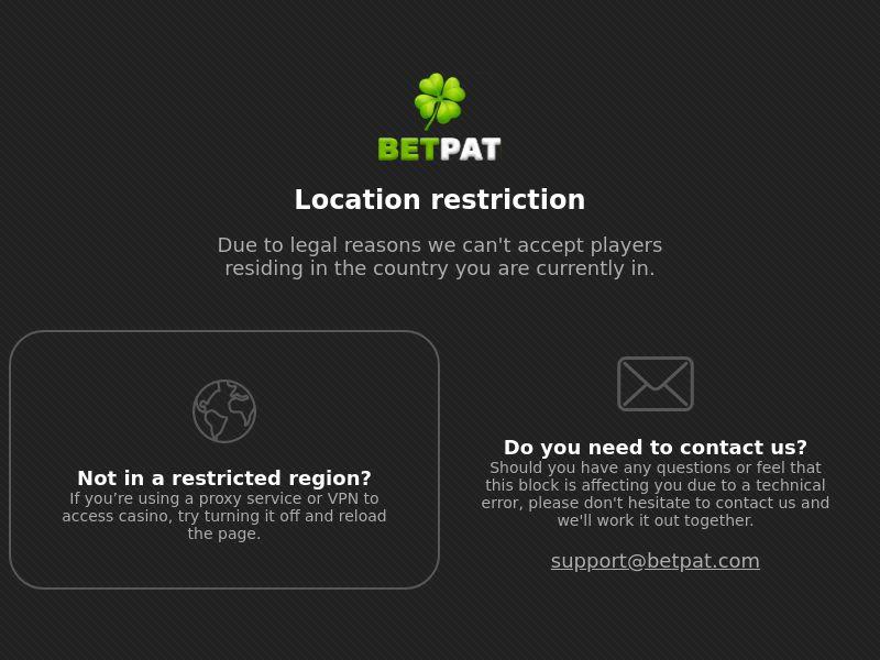 BetPat.com Casino CPA - AT, CH , FI & CA