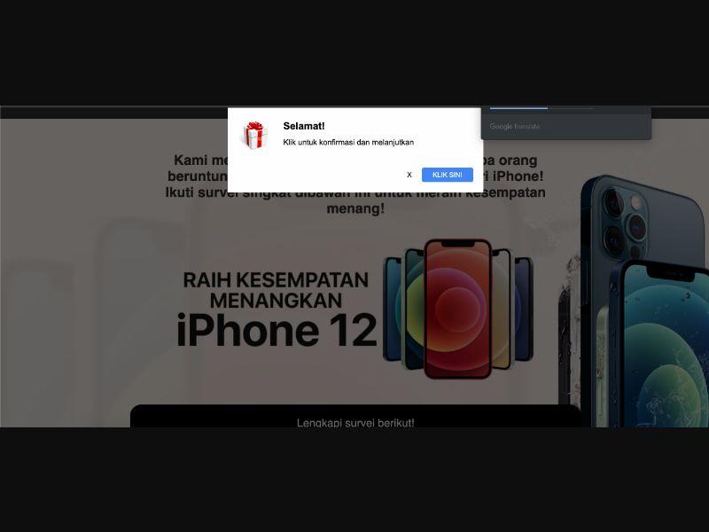 iPhone 12 ID Prelander ID [ID] - SOI registration