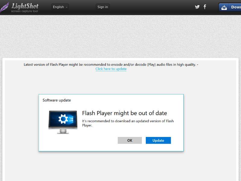 Flash update - Windows - Chrome Edge - IE - DE