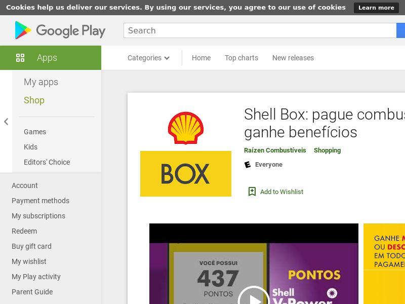 Shell Box: pague combustível e ganhe benefícios (Android 8.0+) BR - Non incent