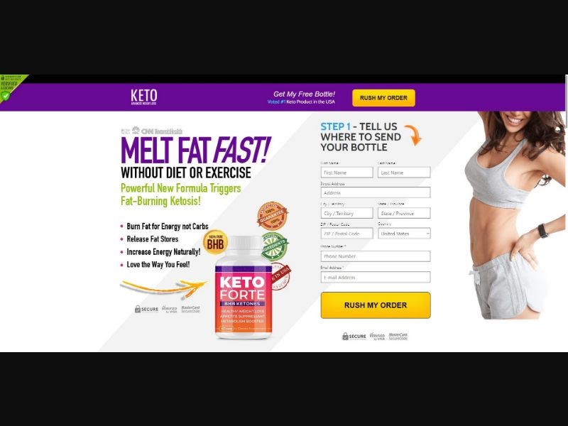Keto Forte BHB Ketones - Diet & Weight Loss - SS - [US, CA]