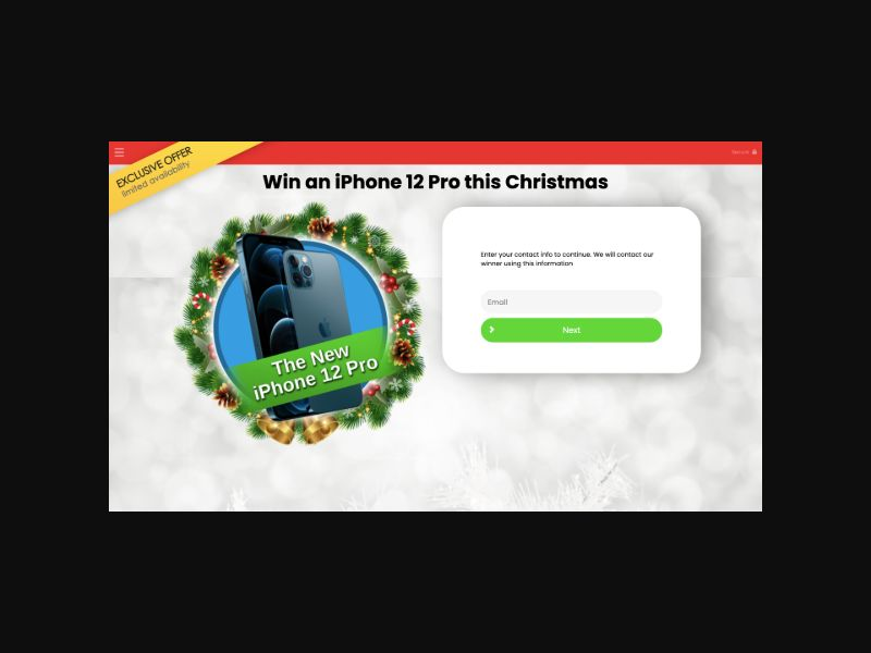 YOUSWEEPS Christmas iPhone 12 Pro (UK) SOI