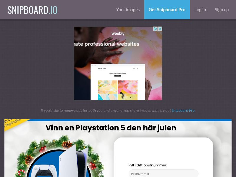 YouSweeps - Win a playstation 5 christmas SE - SOI