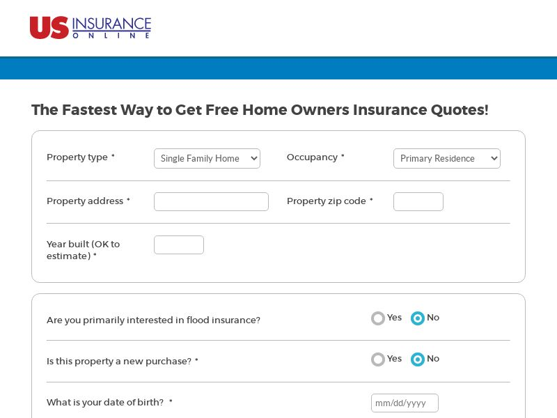 US insurance online Home - US