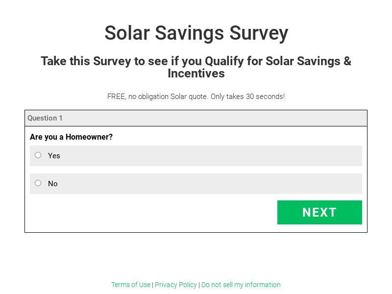 Improve my House Solar survey US CPL